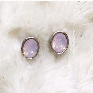 Valentines Ready! 💕 Pink Opal Crystal Earrings